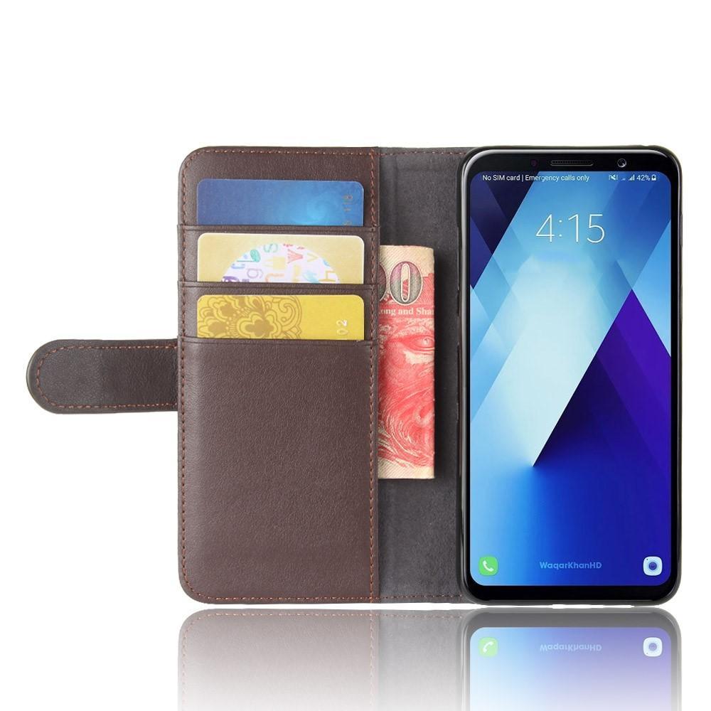 Äkta Läderfodral Samsung Galaxy A8 2018 brun