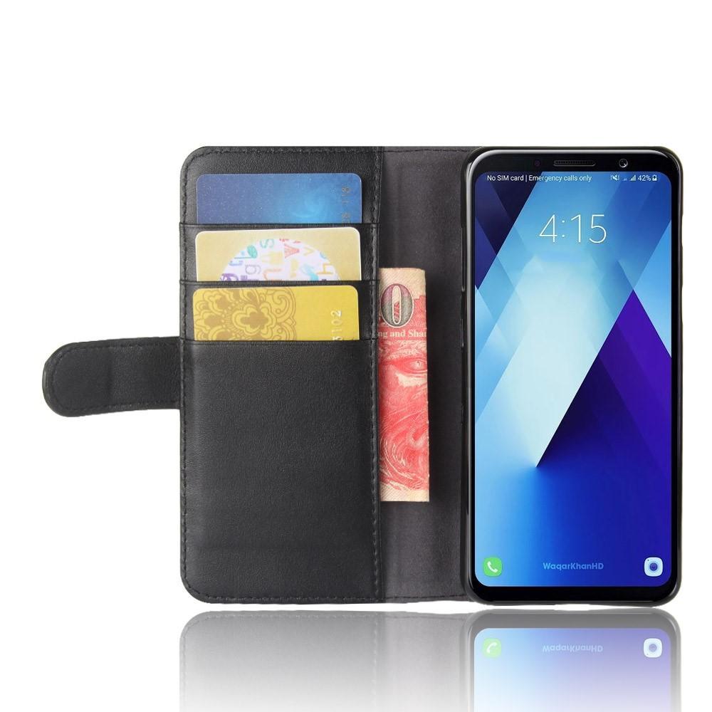 Äkta Läderfodral Samsung Galaxy A8 2018 svart