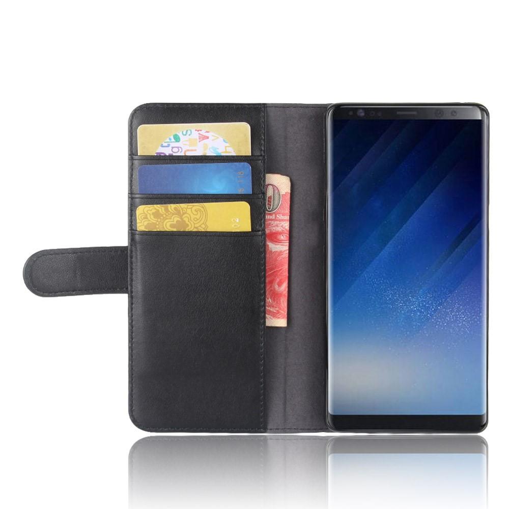 Äkta Läderfodral Samsung Galaxy Note 8 svart