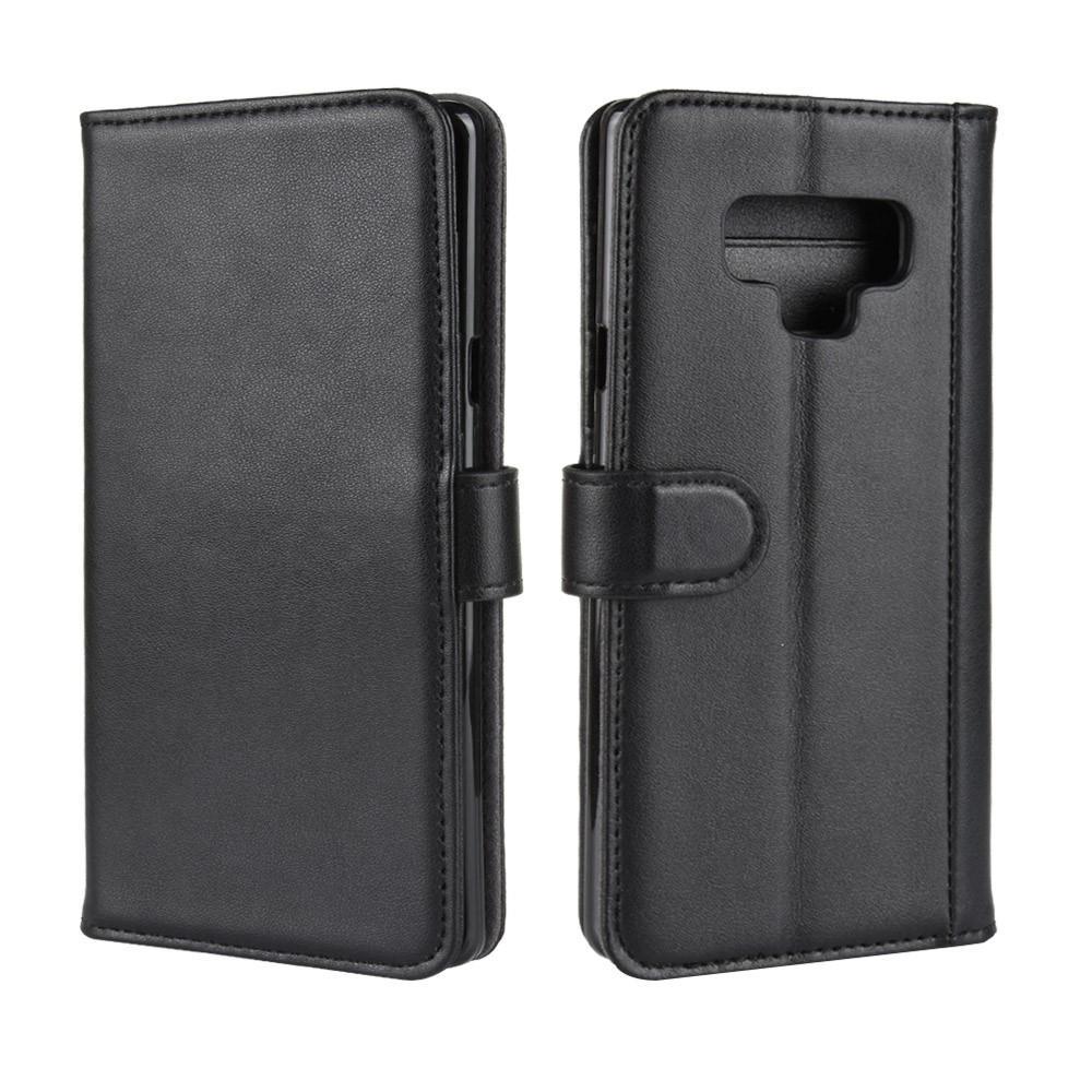 Äkta Läderfodral Samsung Galaxy Note 9 svart