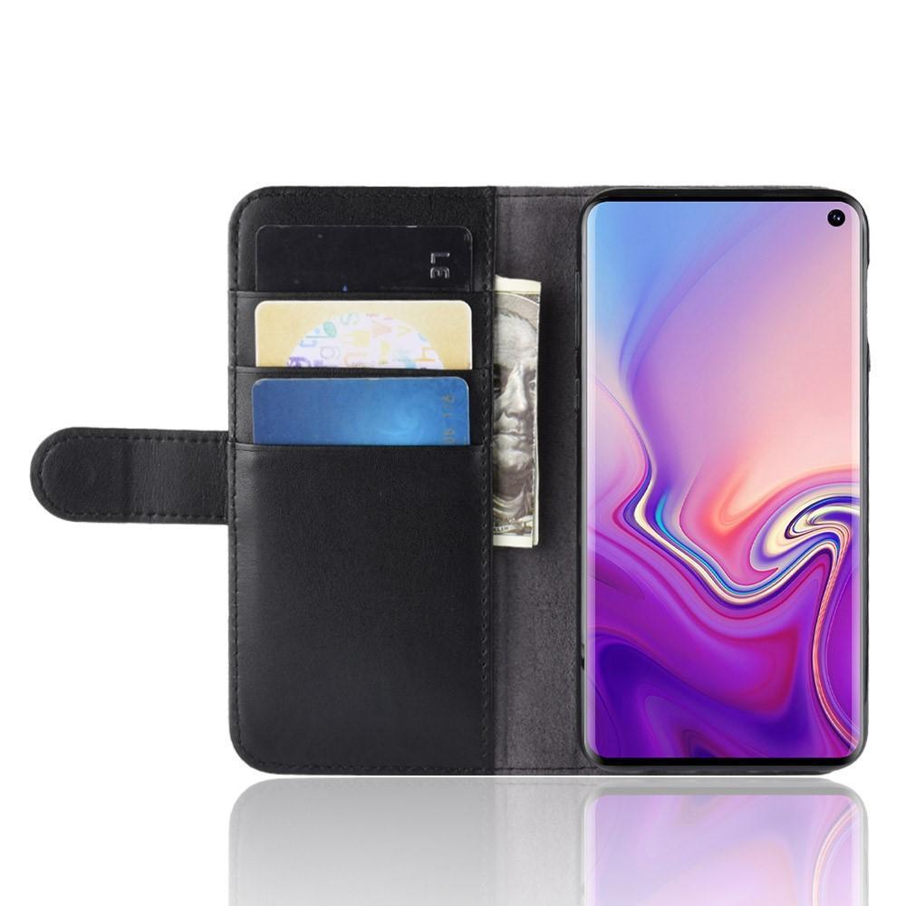 Äkta Läderfodral Samsung Galaxy S10e svart