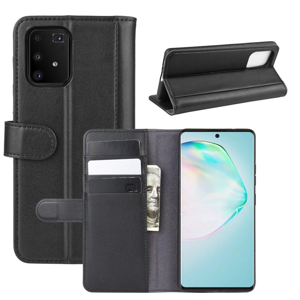 Äkta Läderfodral Samsung Galaxy S10 Lite svart