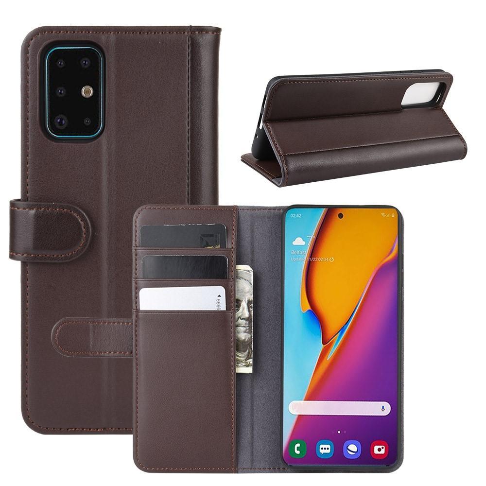 Äkta Läderfodral Samsung Galaxy S20 Plus brun
