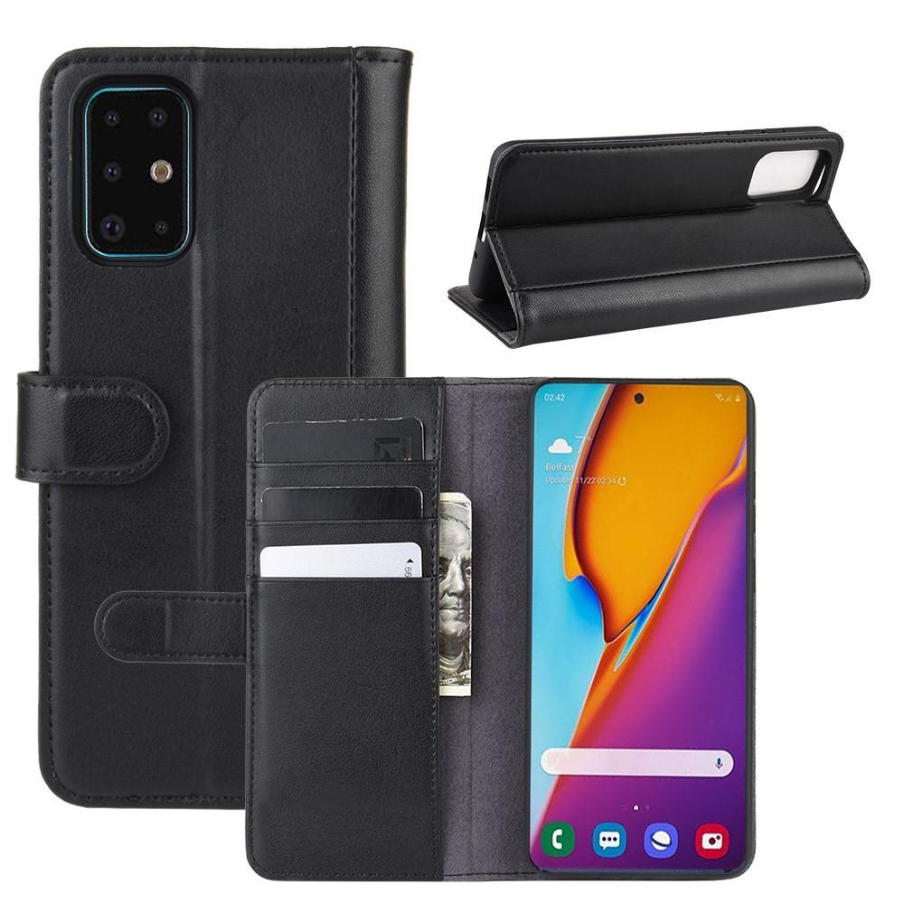 Äkta Läderfodral Samsung Galaxy S20 Plus svart