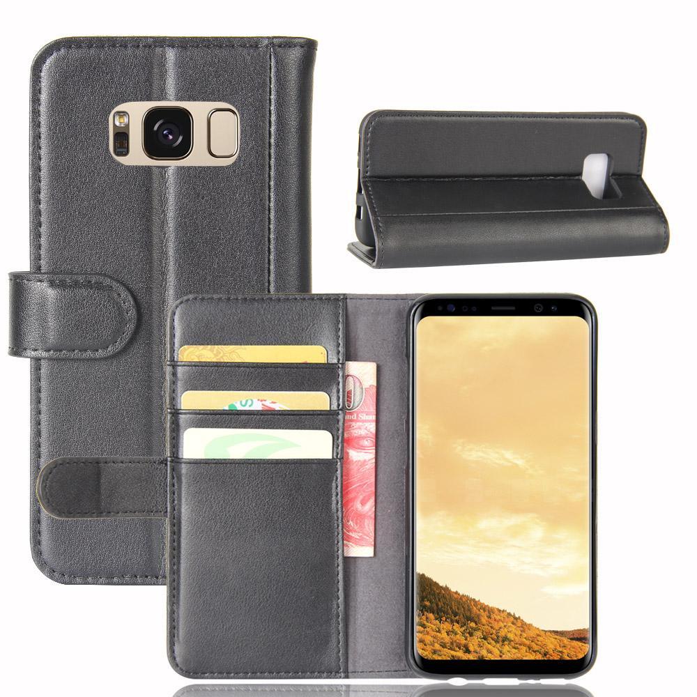 Äkta Läderfodral Samsung Galaxy S8 svart