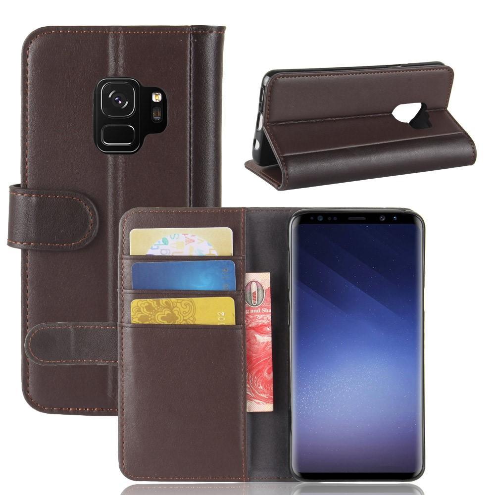 Äkta Läderfodral Samsung Galaxy S9 brun
