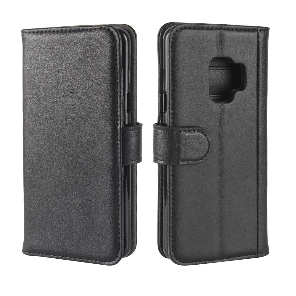 Äkta Läderfodral Samsung Galaxy S9 svart