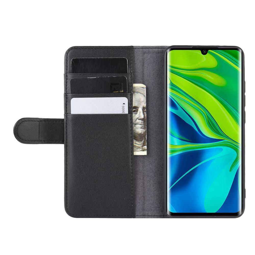 Äkta Läderfodral Xiaomi Mi Note 10/10 Pro svart