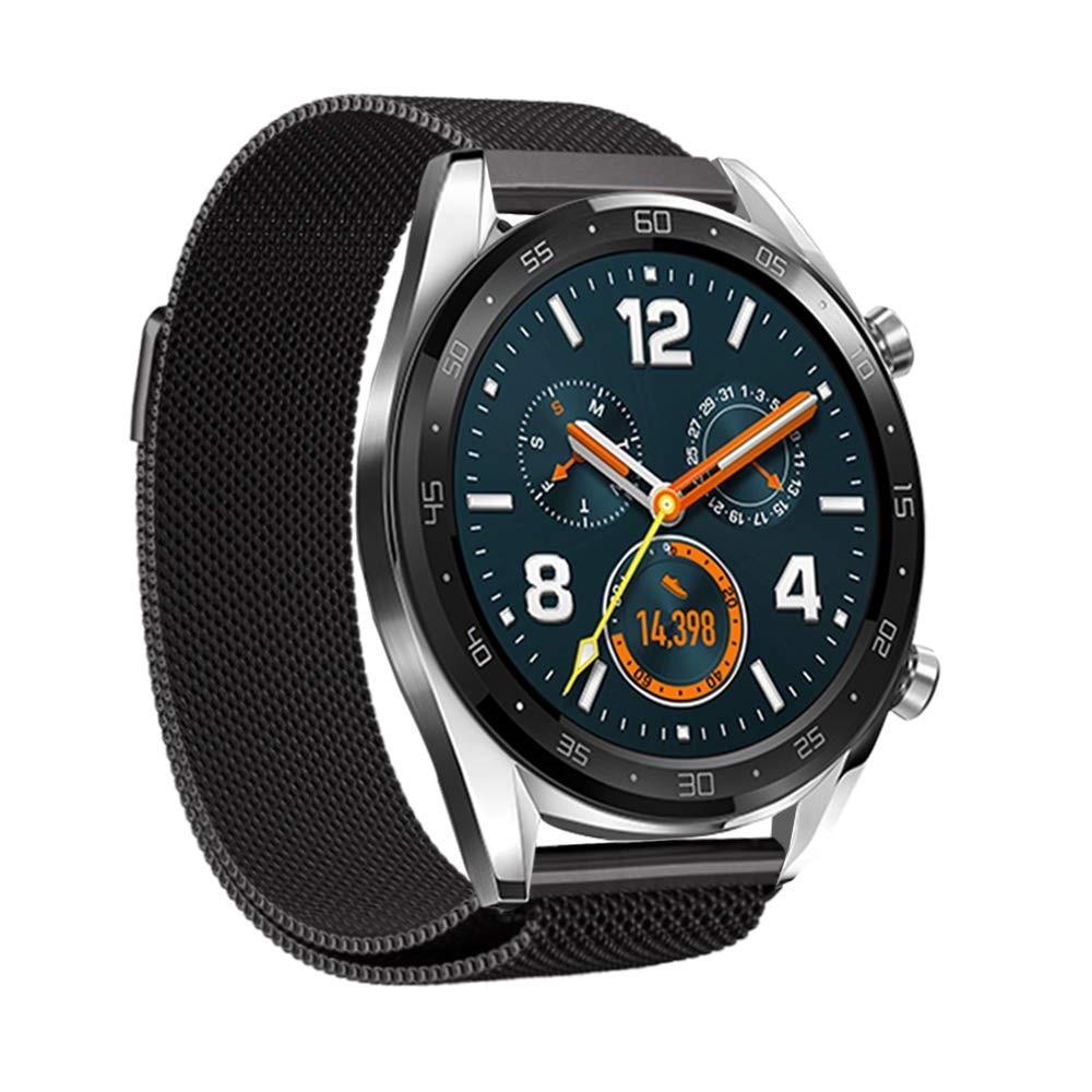 Armband Milanese Huawei Watch GT/GT 2 46mm/GT 2e svart