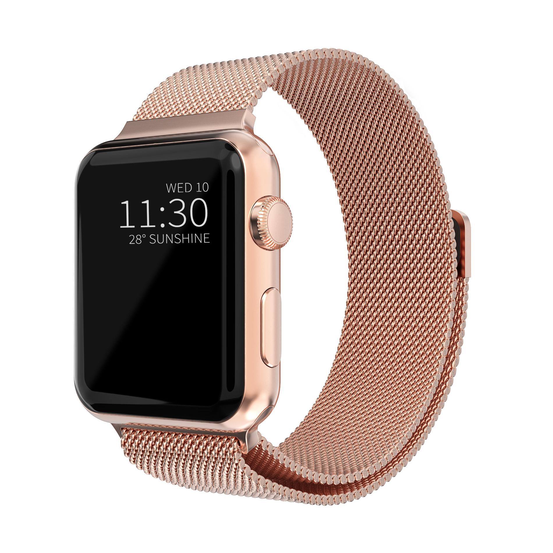 Armband Milanese Loop Apple Watch 38/40 mm roséguld
