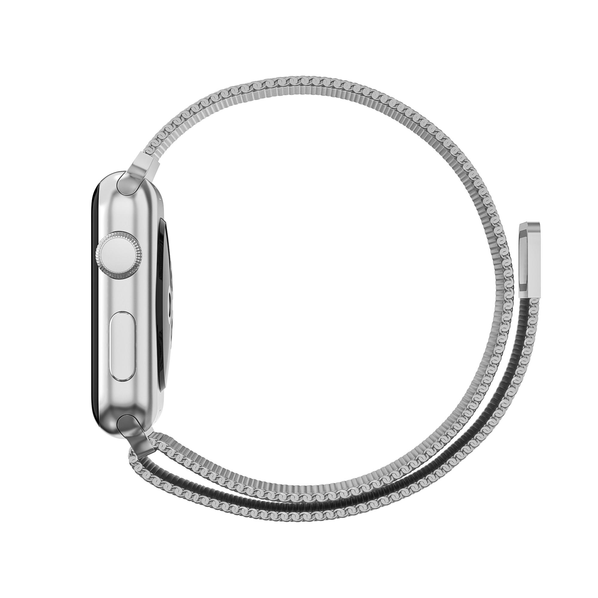 Armband Milanese Loop Apple Watch 38/40 mm silver