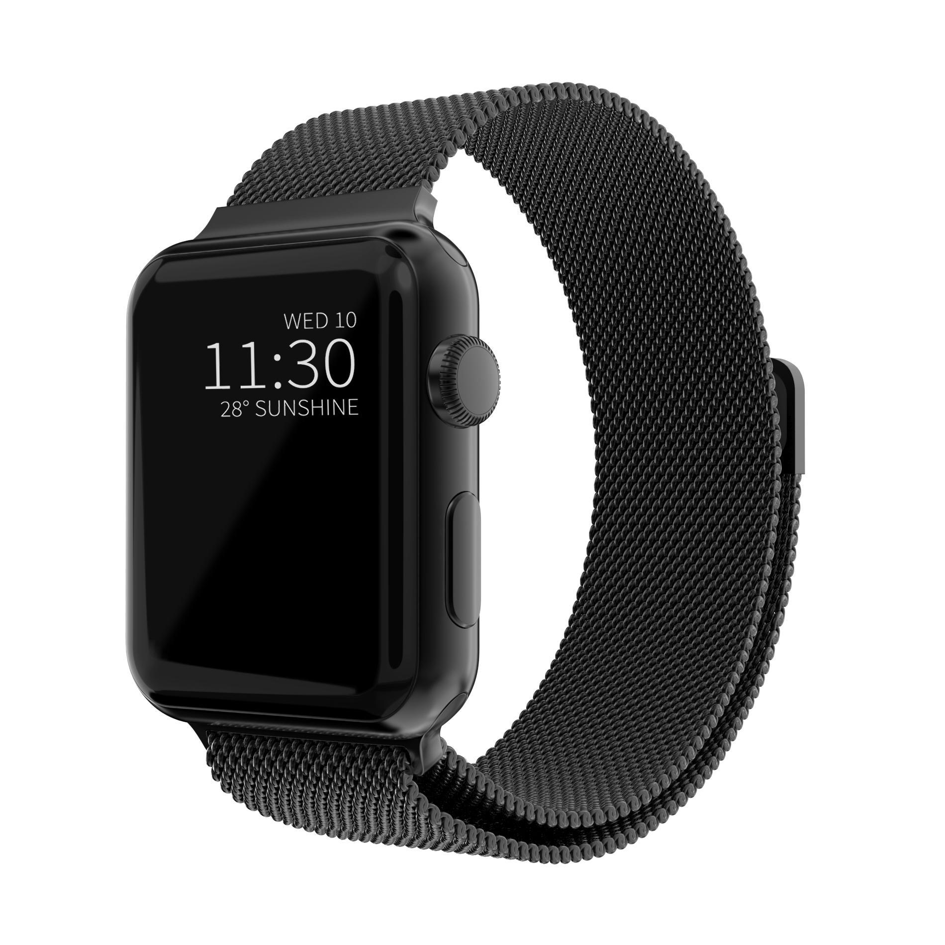 Armband Milanese Loop Apple Watch 38/40 mm svart