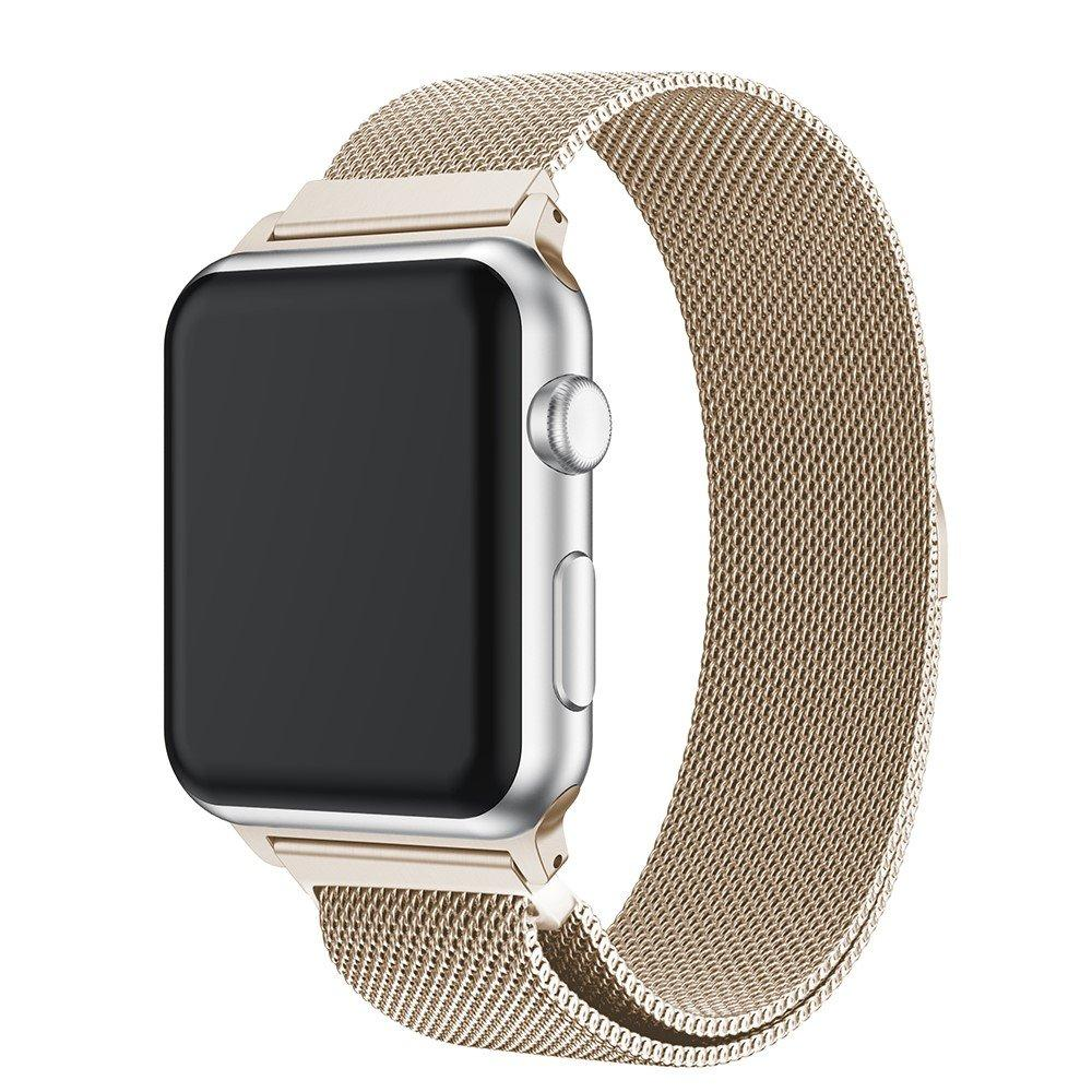 Armband Milanese Loop Apple Watch 38/40 mm champagneguld