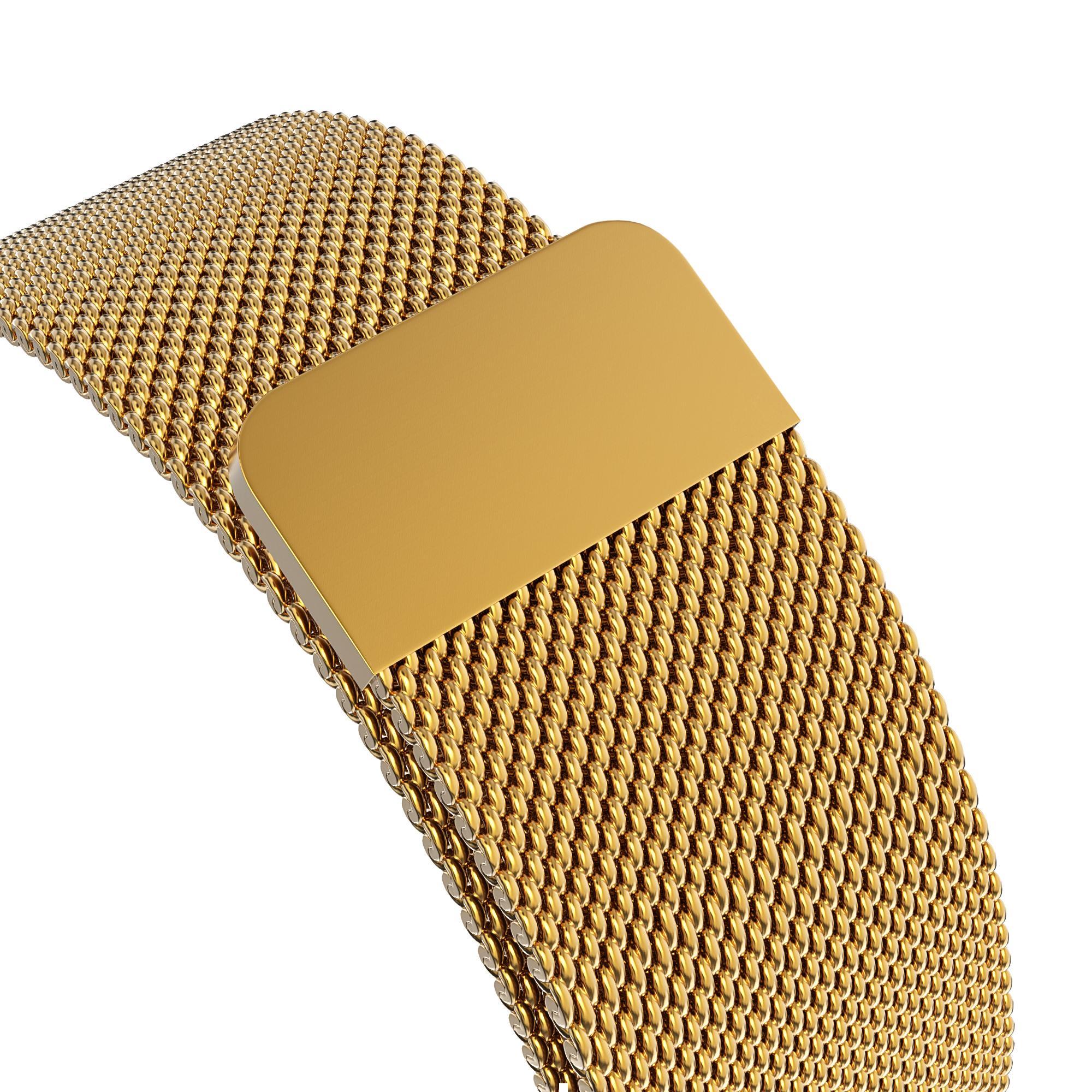 Armband Milanese Loop Apple Watch 42/44 mm guld