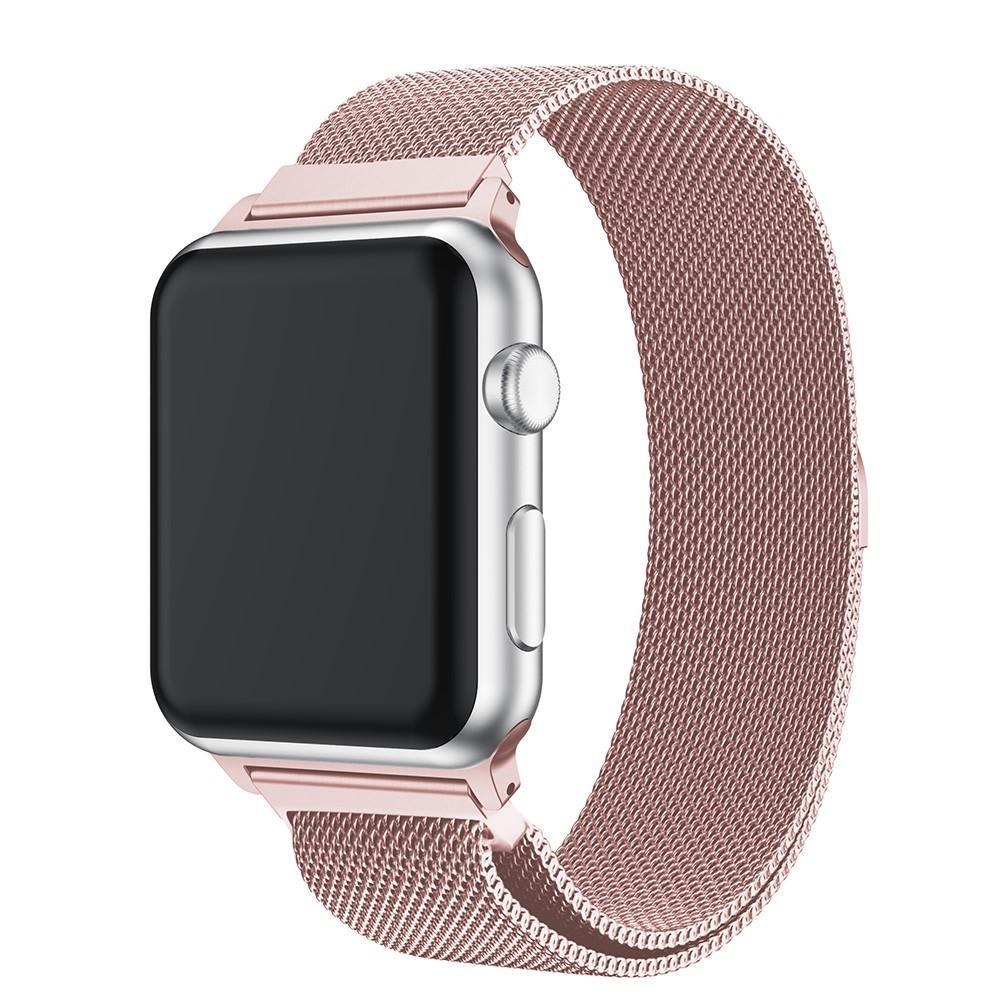 Armband Milanese Loop Apple Watch 42/44 mm rosa guld