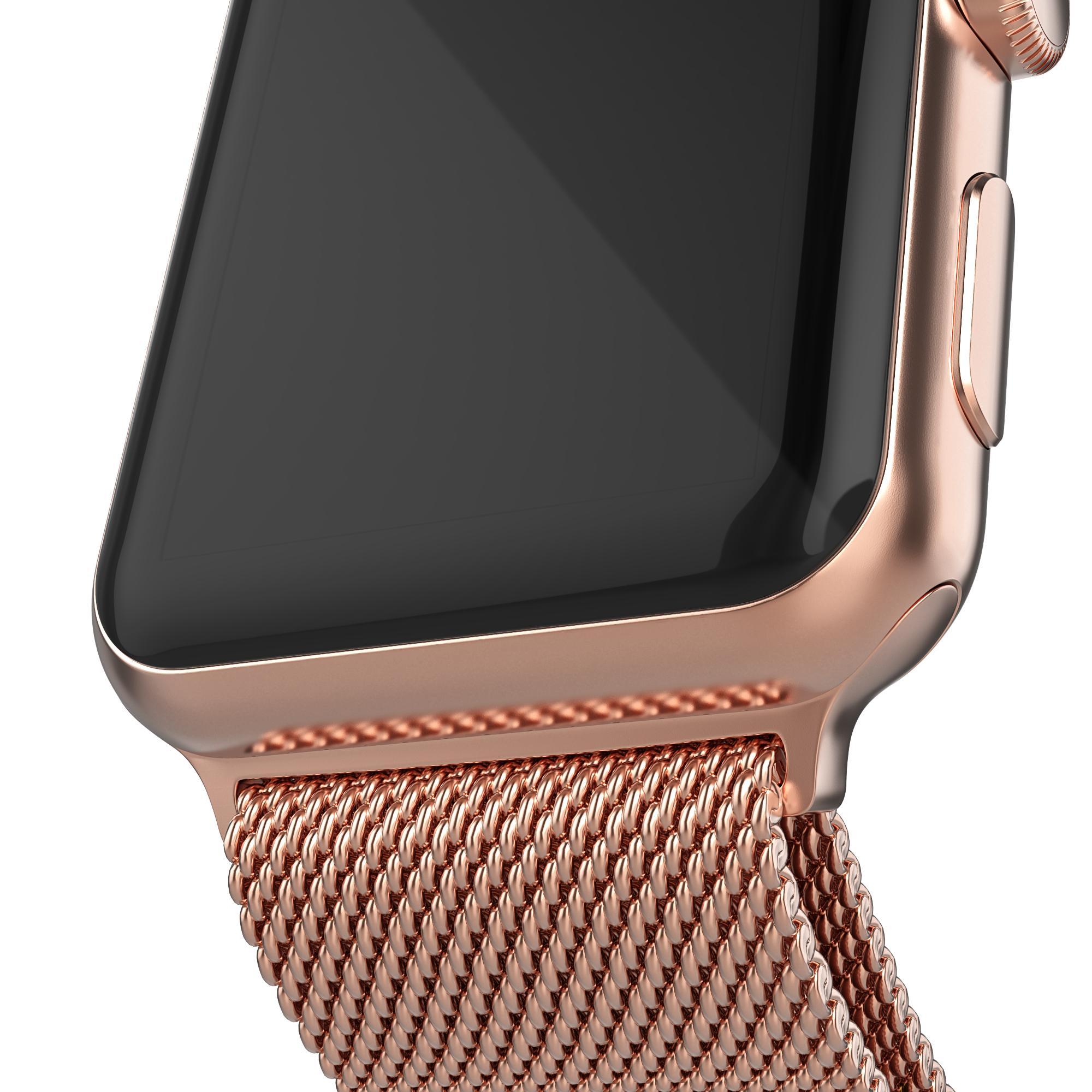 Armband Milanese Loop Apple Watch 42/44 mm roséguld