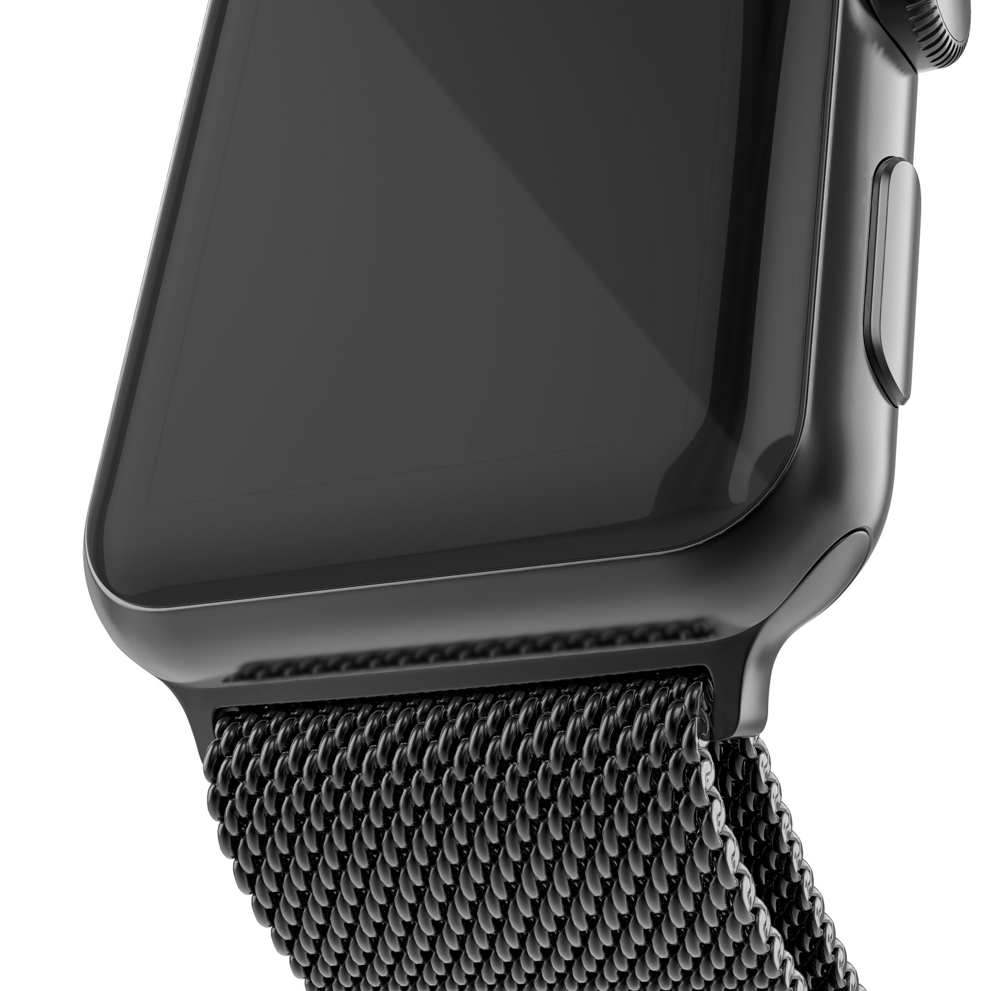 Armband Milanese Loop Apple Watch 42/44 mm svart