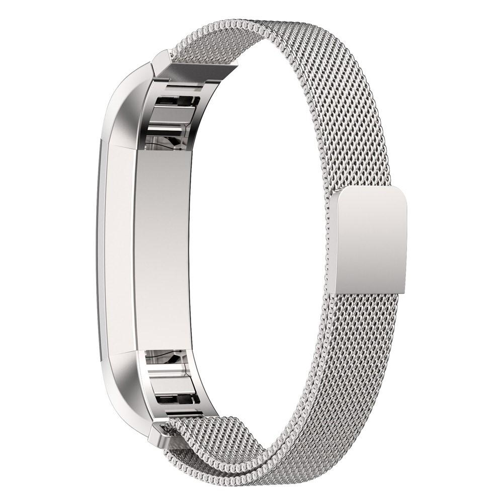 Armband Milanese Loop Fitbit Alta/Alta HR silver