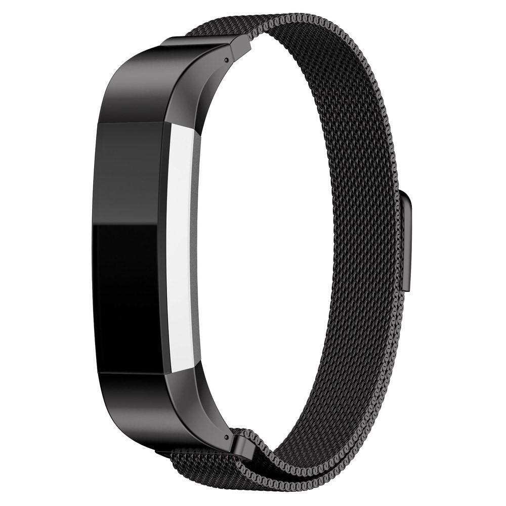 Armband Milanese Loop Fitbit Alta/Alta HR svart