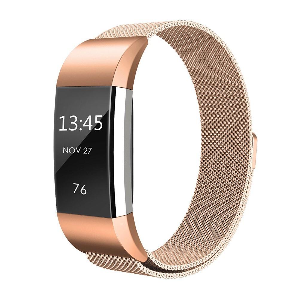 Armband Milanese Loop Fitbit Charge 2 roséguld