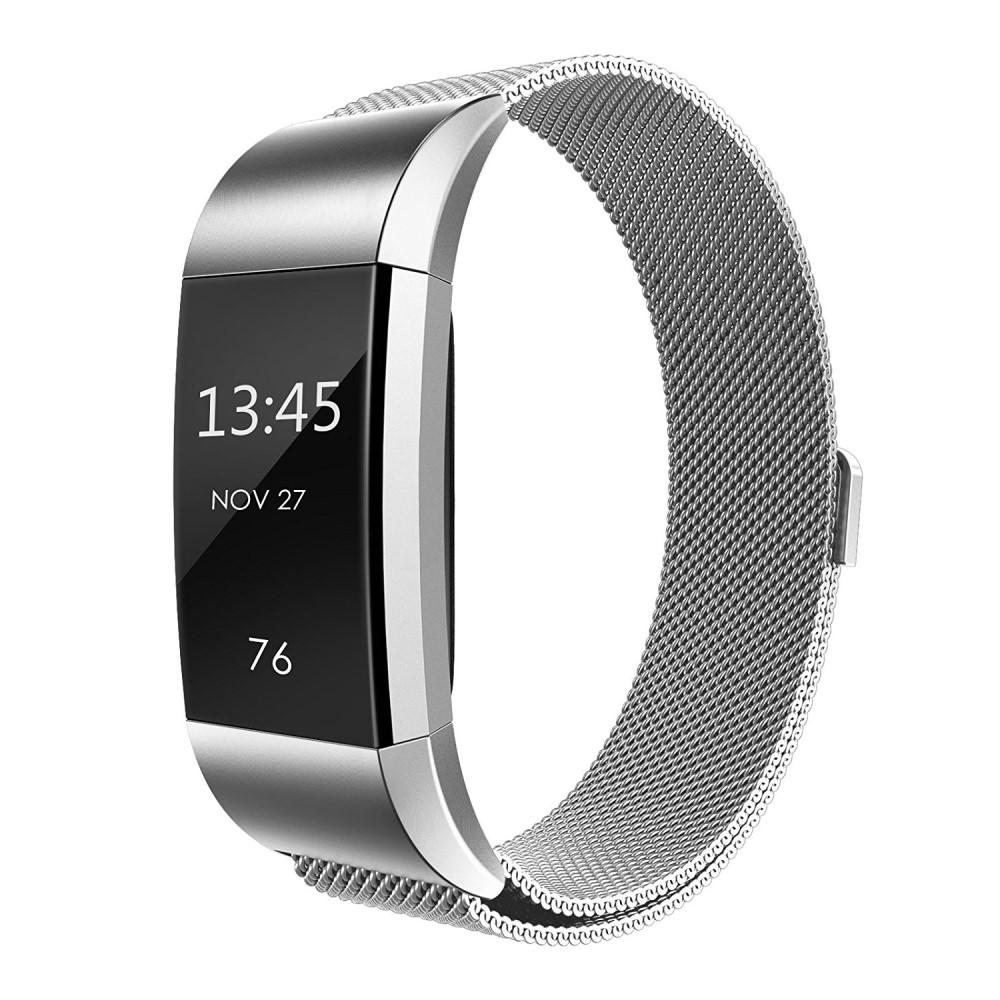 Armband Milanese Loop Fitbit Charge 2 silver