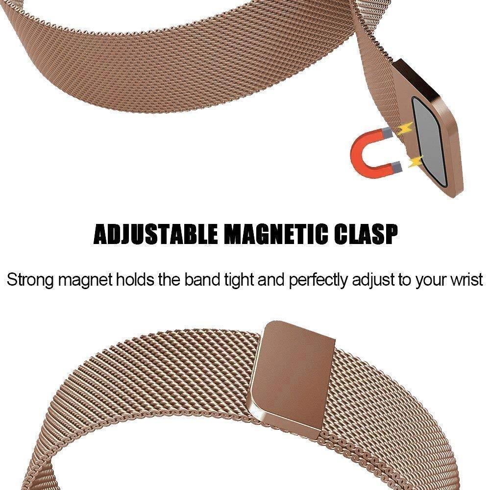 Armband Milanese Loop Fitbit Charge 3/4 roséguld