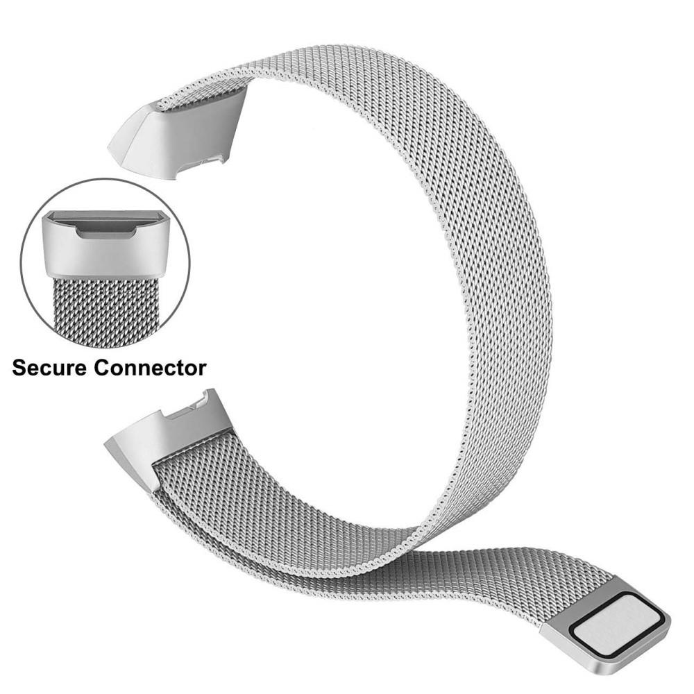 Armband Milanese Loop Fitbit Charge 3/4 silver