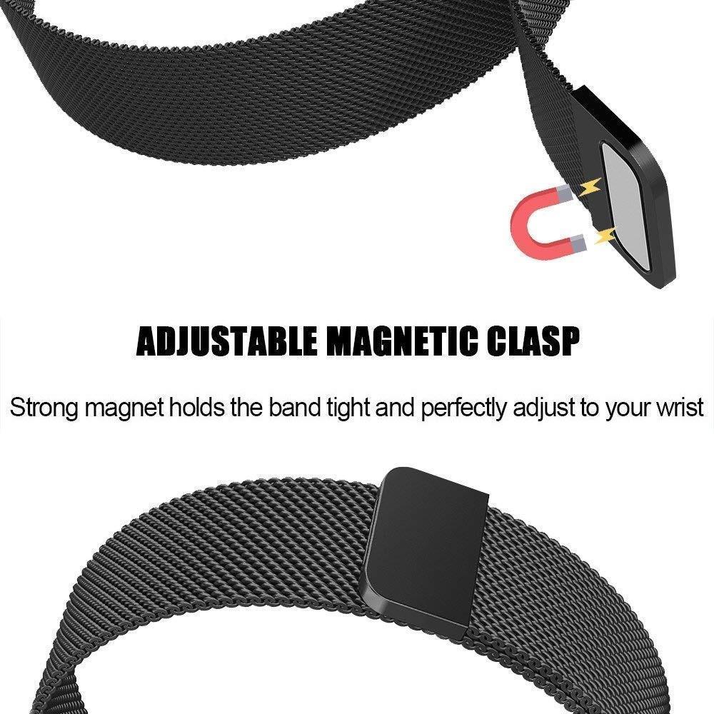Armband Milanese Loop Fitbit Charge 3/4 svart