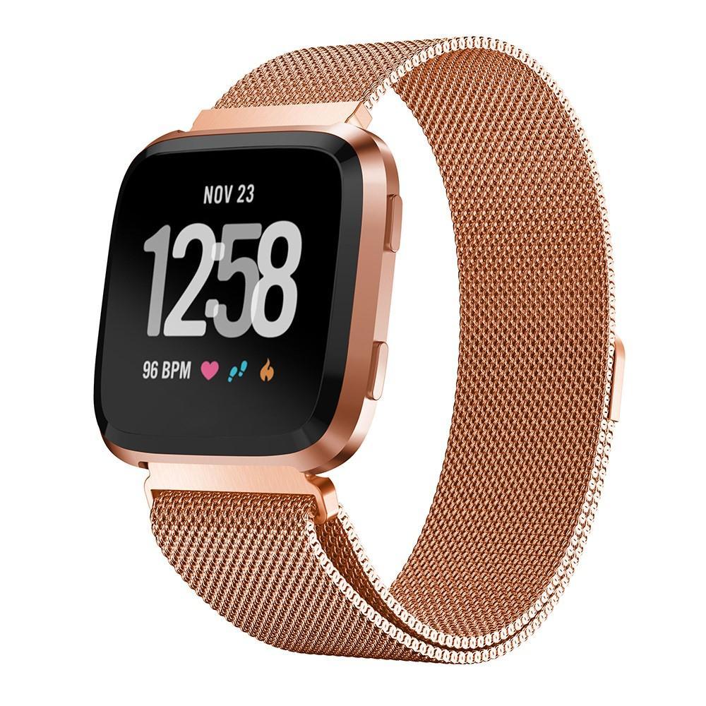 Armband Milanese Loop Fitbit Versa/Versa 2 roséguld