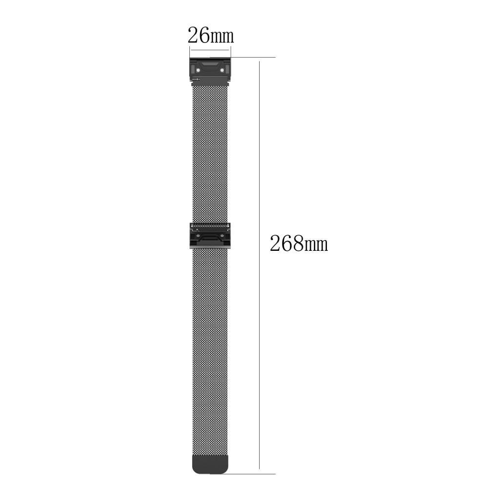 Armband Milanese Loop Garmin Fenix 3/5X/5X Plus/6X/6X Pro silver
