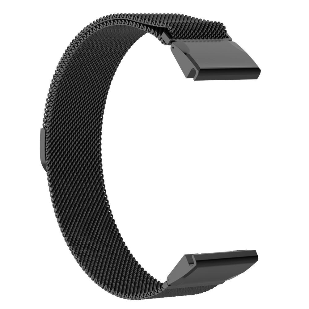 Armband Milanese Loop Garmin Fenix 3/3 HR/5X/5X Plus/6X/6X Pro svart