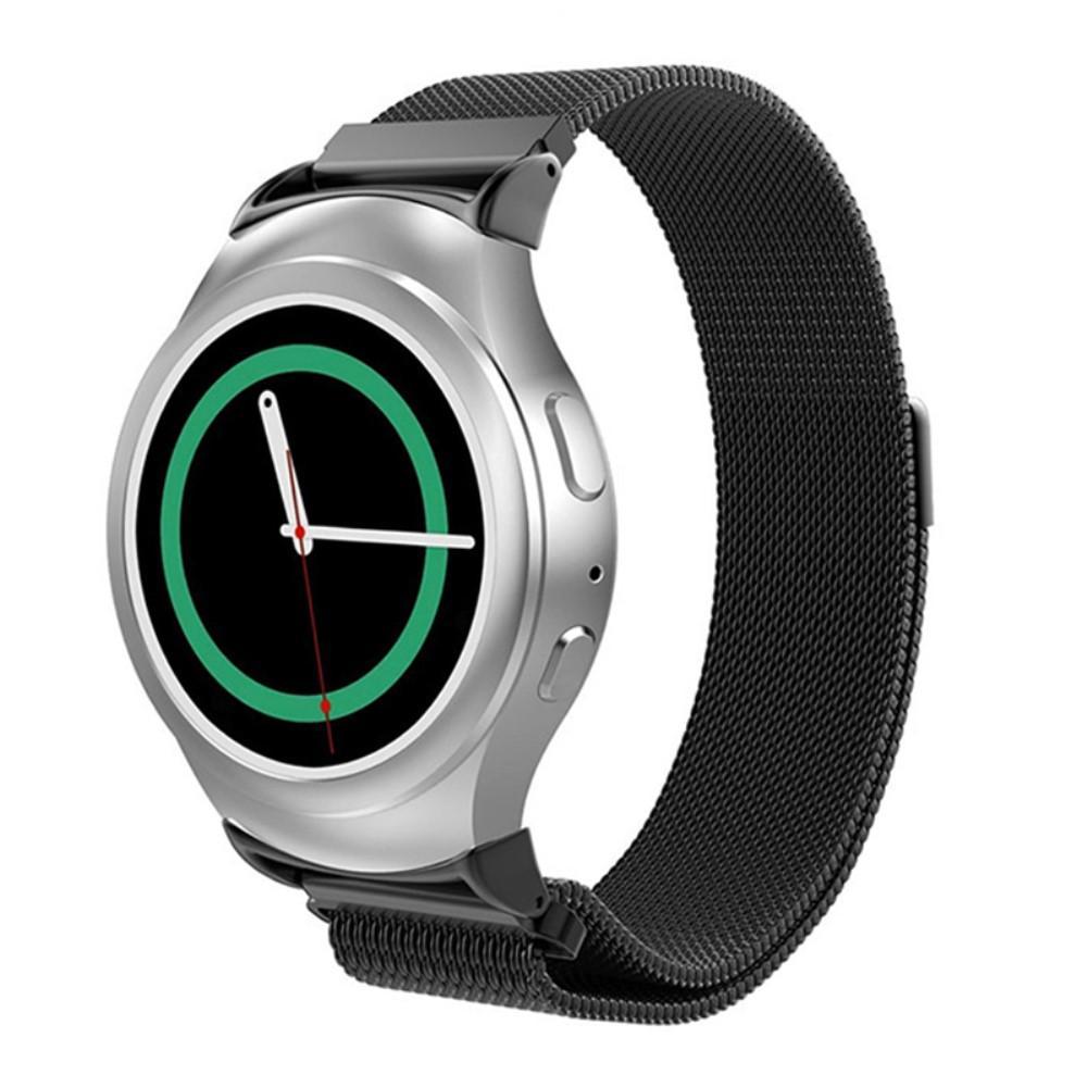 Armband Milanese Loop Samsung Gear S2 svart