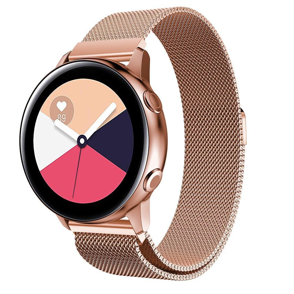 Armband Milanese Samsung Galaxy Watch Active roséguld