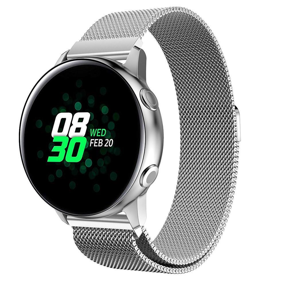 Armband Milanese Samsung Galaxy Watch Active silver