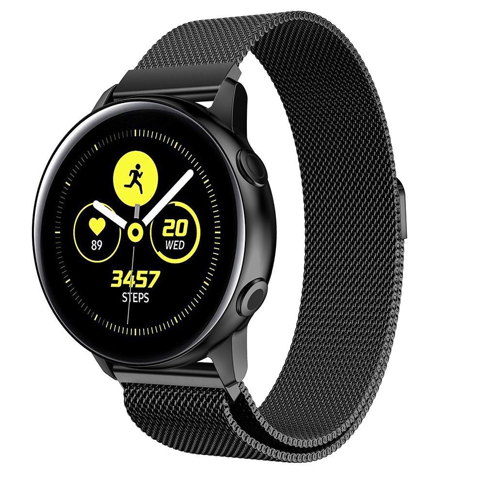 Armband Milanese Samsung Galaxy Watch Active svart