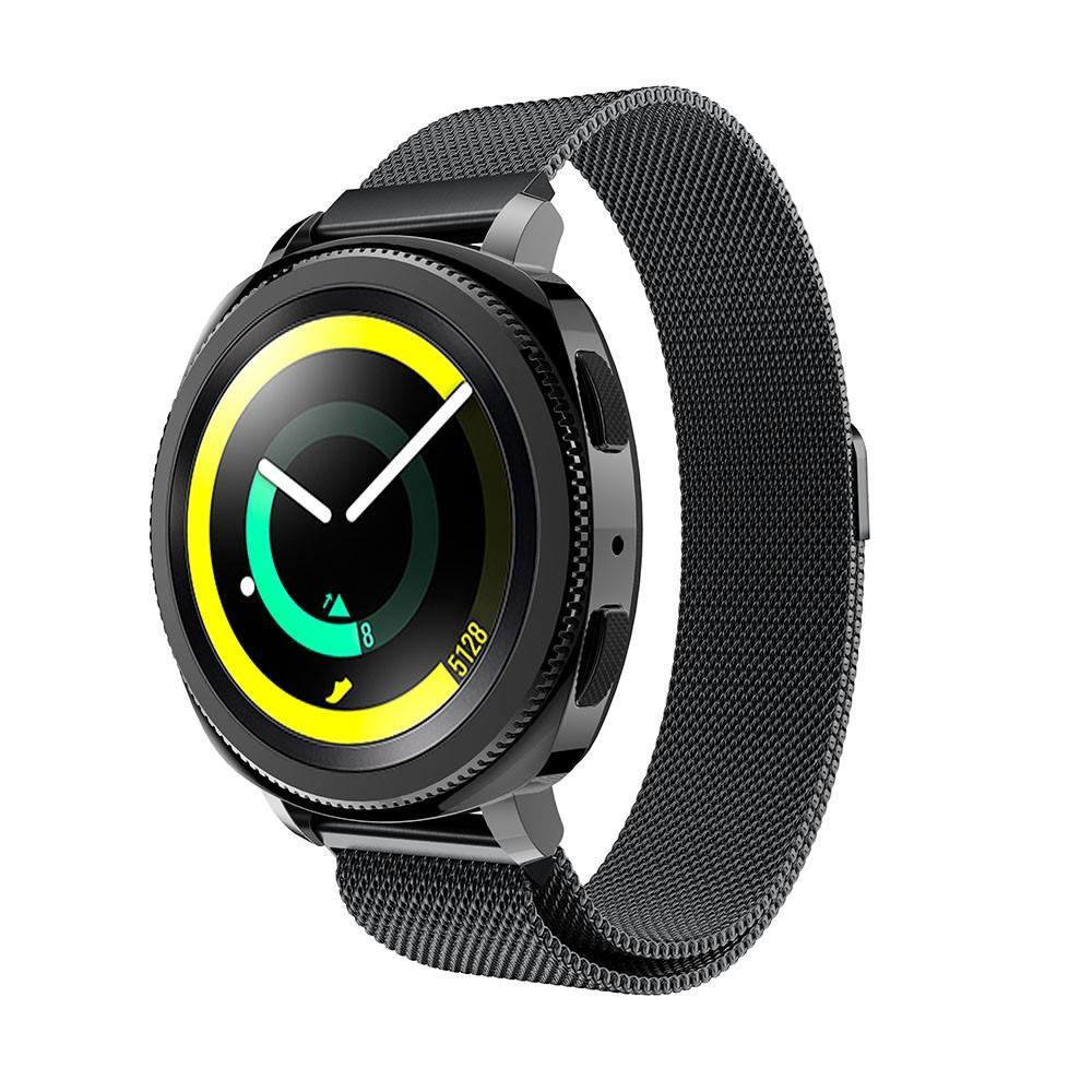 Armband Milanese Samsung Gear Sport svart