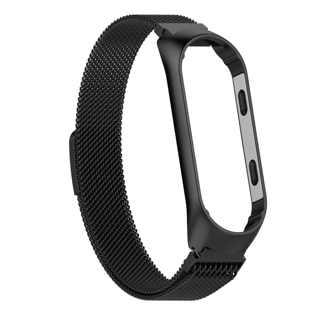 Armband Milanese Xiaomi Mi Band 3/4 svart