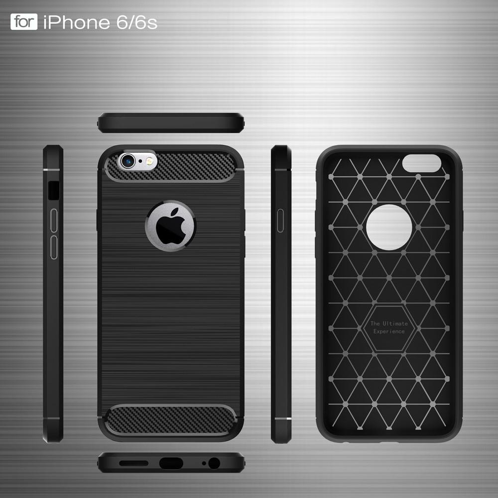 Brushed TPU Case for iPhone 6/6S black