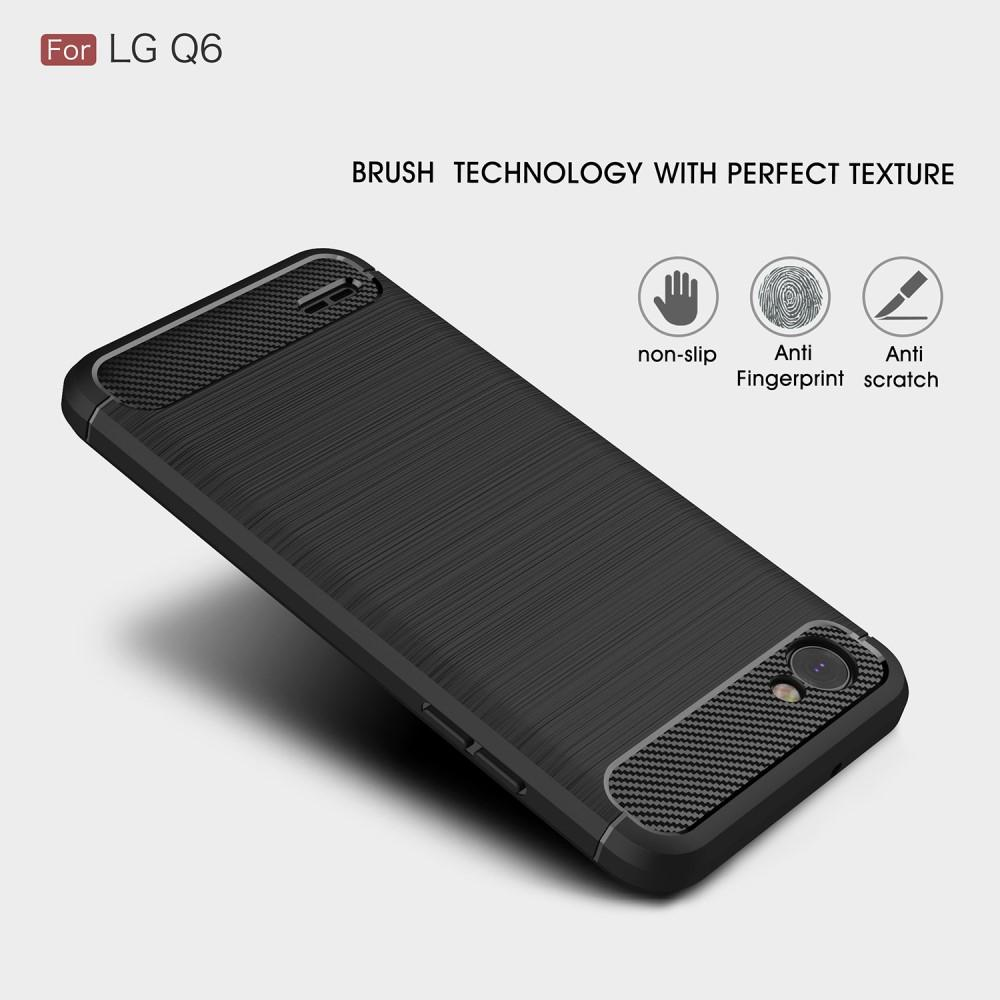 Brushed TPU Case for LG Q6 black