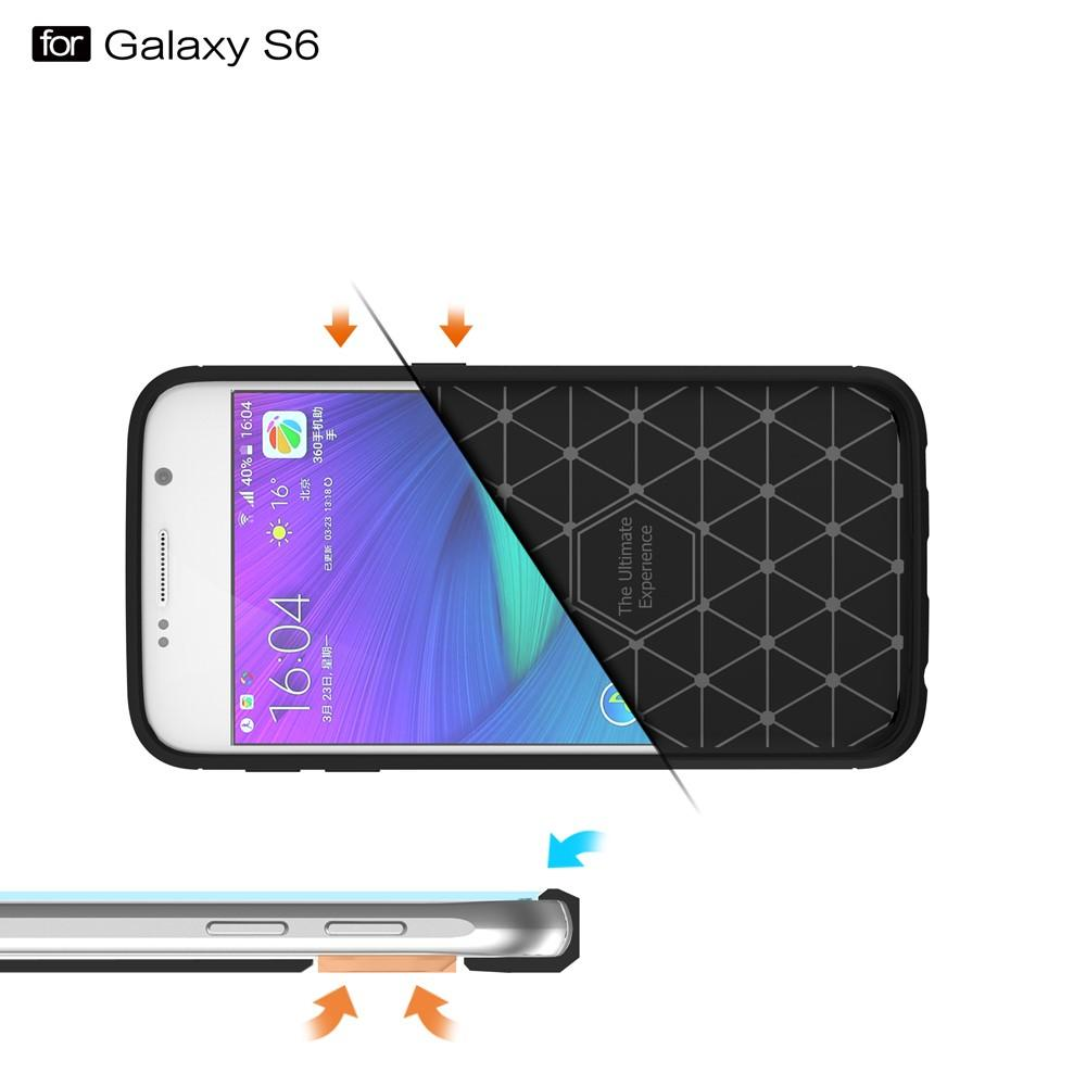 Brushed TPU Case for Samsung Galaxy S6 black