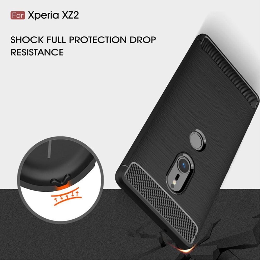 Brushed TPU Case for Sony Xperia XZ2 black