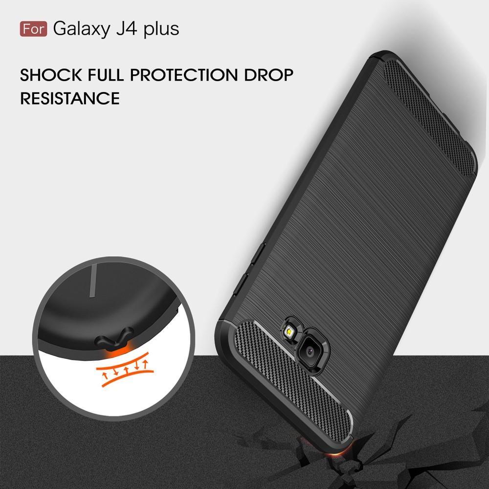 Brushed TPU Case Samsung Galaxy J4 Plus 2018 black