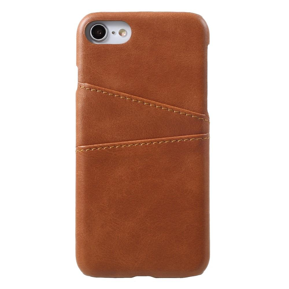 Card Slots Case iPhone 7/8/SE 2020 brun