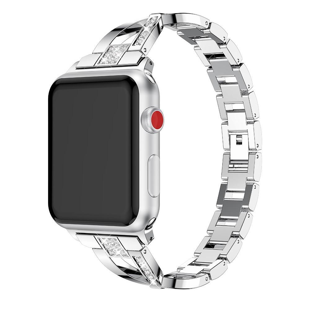 Crystal Bracelet Apple Watch 42/44 mm Silver