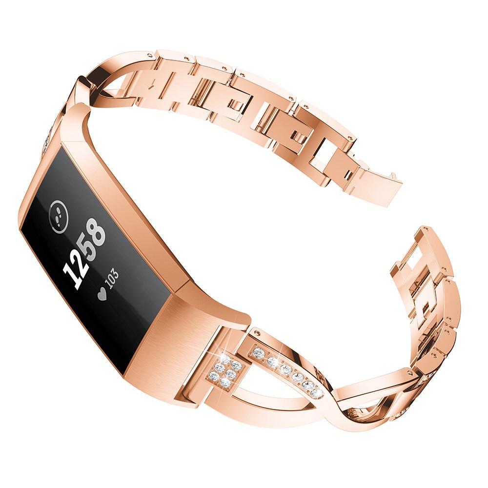 Crystal Bracelet Fitbit Charge 3/4 Rose Gold