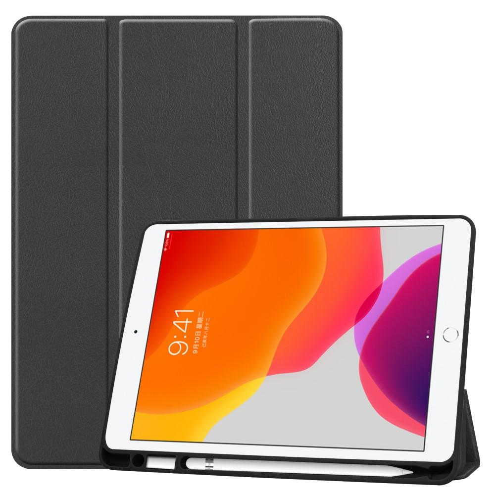 Fodral Tri-fold med Pencil-hållare iPad 10.2 2019/2020 svart
