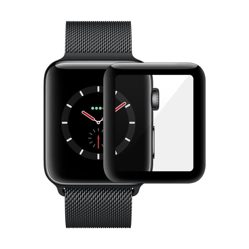 Heltäckande Härdat Glas Skärmskydd Apple Watch 38mm svart