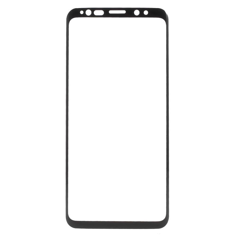 Heltäckande Härdat Glas Skärmskydd Galaxy S9 svart