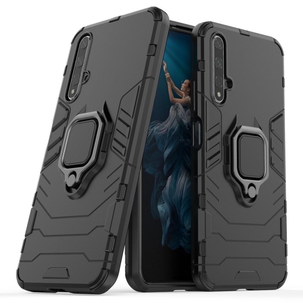 Hybridskal Tech Ring Huawei Nova 5T/Honor 20 svart