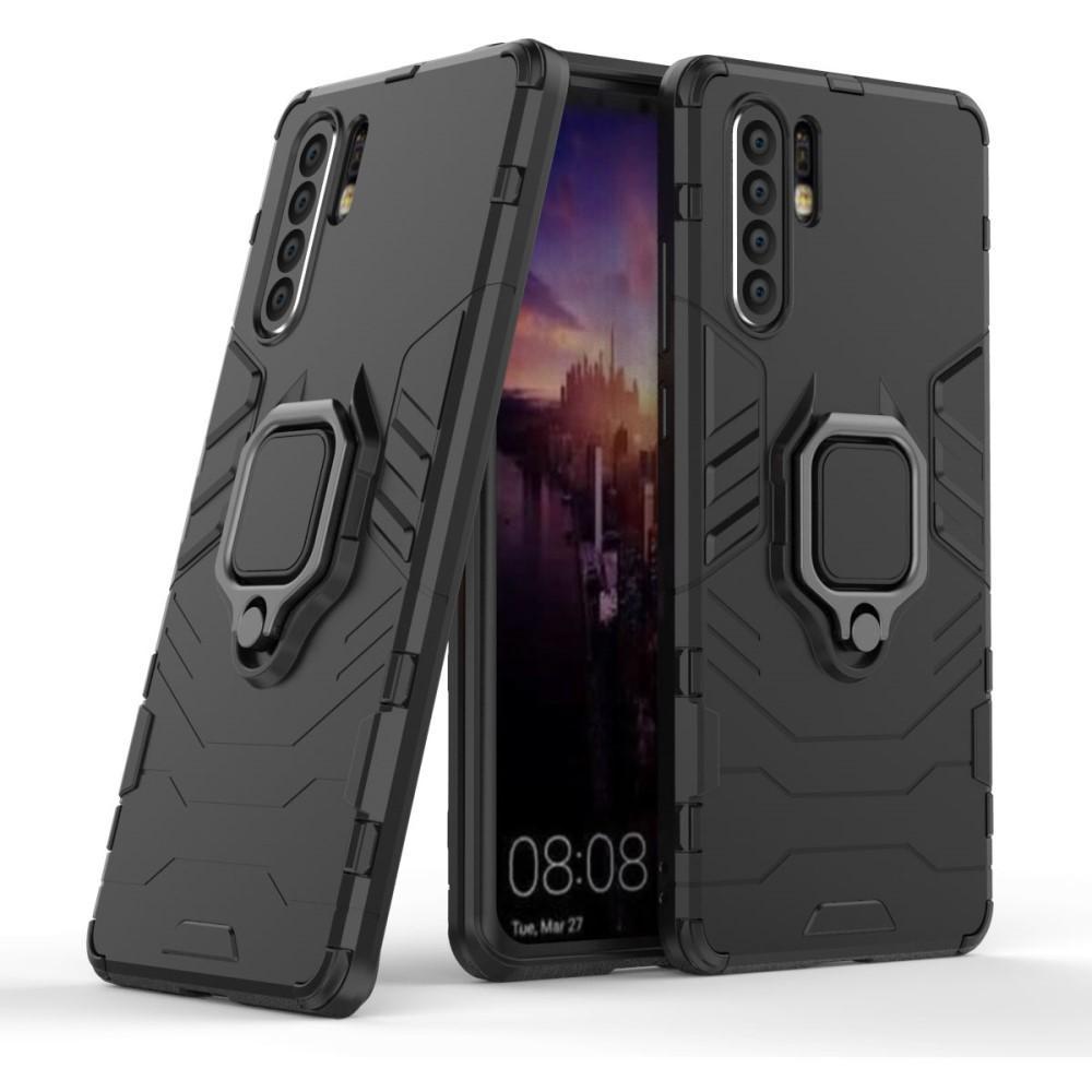 Hybridskal Tech Ring Huawei P30 Pro svart
